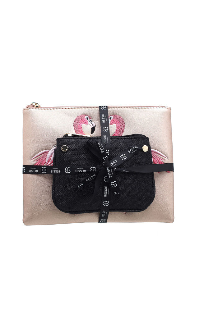 POUCH AND COIN PURSE GIFT SET in PINK by BESSIE LONDON