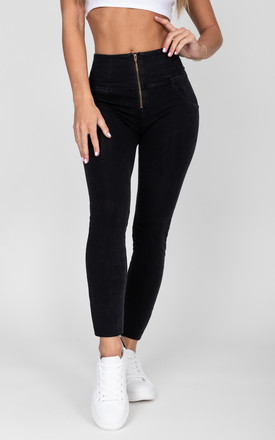 High waist black Denim by Hugz Jeans