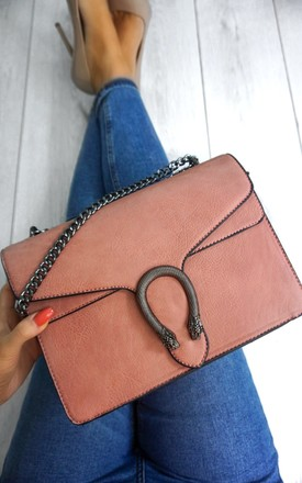 Snake Clasp Bag Pink by Styled Clothing