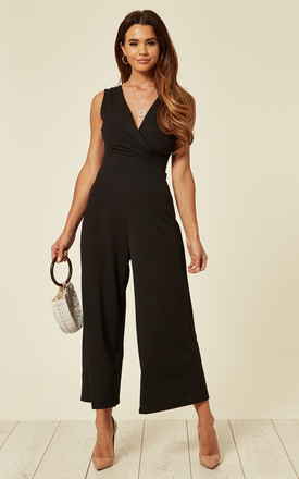 Victoria Classic Black V Neck Culottes by WalG