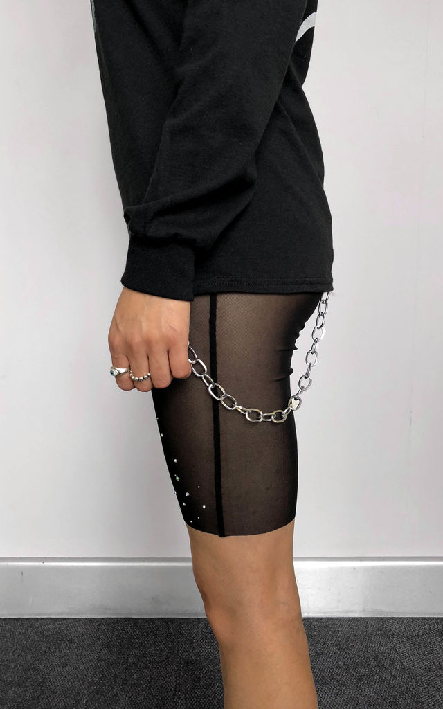 Mesh Rhinestone Shorts by Find the Light