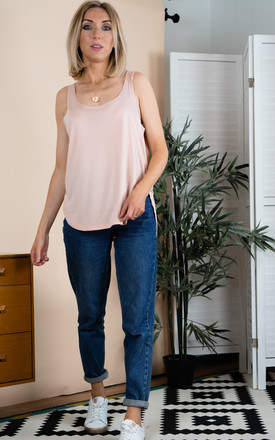Relaxed Cami Vest Top in Nude by Rock On Ruby