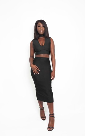 NEWYORK BLACK  TWO PIECE SKIRT AND TOP SET by IVY EKONG FASHION