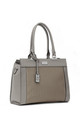 LASER CUT DOUBLE HANDLE TOTE BAG in GREY by BESSIE LONDON