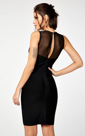 WRAP OVER MESH BANDAGE DRESS by The Girlcode