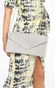 Light Grey Suede Envelope Clutch Bag by Dressed In Lucy