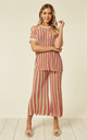 Cold Shoulder Top and Culottes Co-ord in Pink by Lucy Sparks