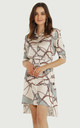 Chain Print Shirt Dress With Belt Green by URBAN TOUCH
