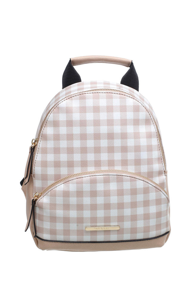 CLASSIC GRID BACKPACK PINK by BESSIE LONDON
