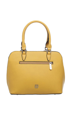 SHELL SHAPED LASER CUT TOTE YELLOW by BESSIE LONDON
