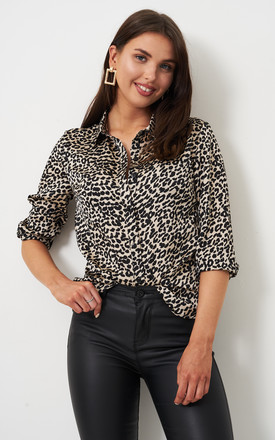 Lara Black Animal Print Shirt by love frontrow Product photo