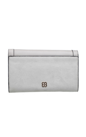 STUDDED FLAP TOP PURSE GREY by BESSIE LONDON