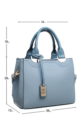 MEDIUM DOUBLE HANDLE TOTE BLUE by BESSIE LONDON