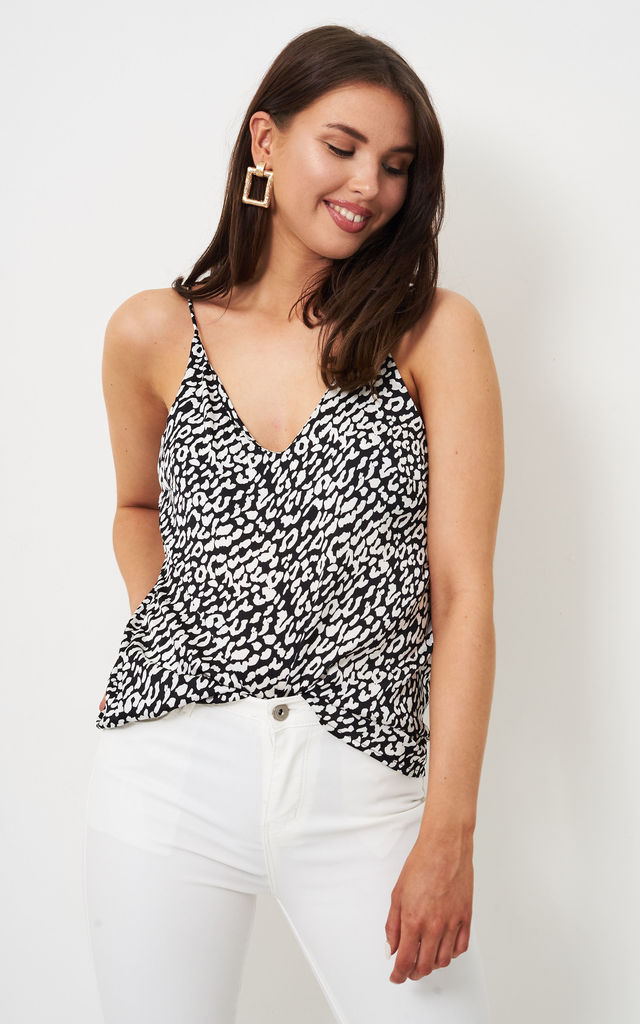 Lyla Cream Leopard Print Cami Top by love frontrow