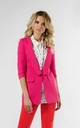 Jacket with 3/4 Sleeve and Button in Dark Pink by Bergamo