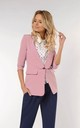 Jacket with 3/4 Sleeve and Button in Light Pink by Bergamo