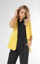 Jacket with 3/4 Sleeve and Button in Yellow by Bergamo