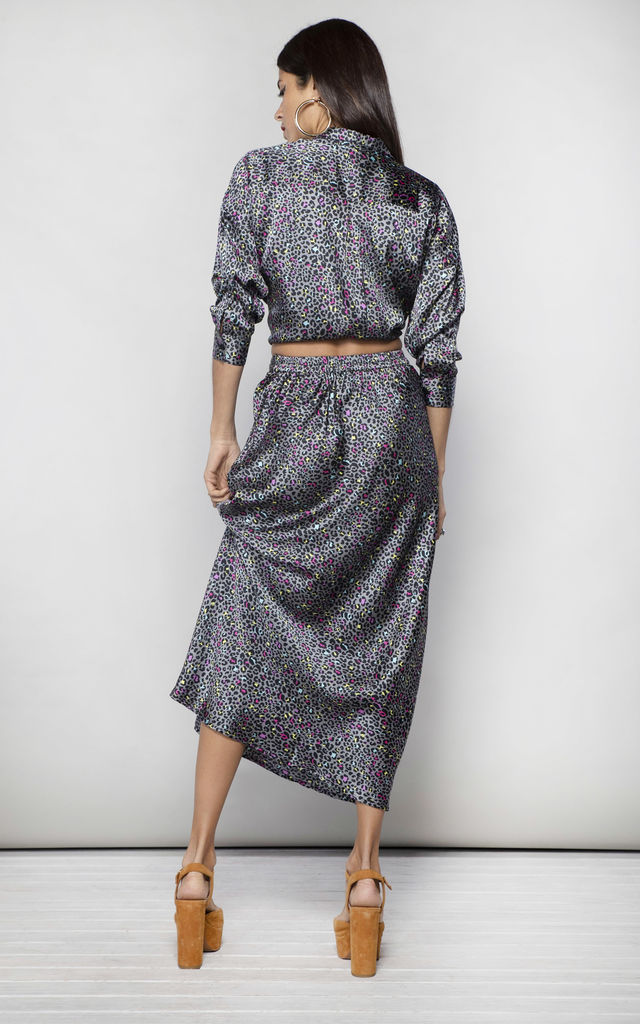 RENZO SKIRT IN  DITSY LEOPARD image