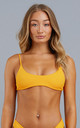 Yellow Java Eco Bikini Top by NOVMBR Swimwear
