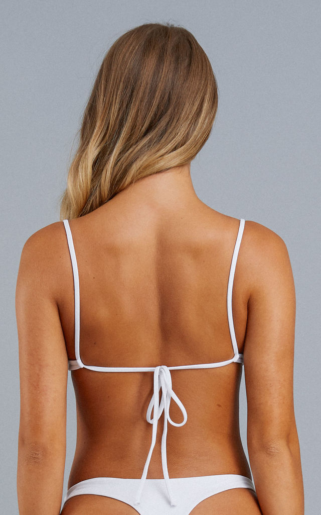 White Java Eco Bikini Top by NOVMBR Swimwear