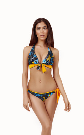 Urban Chameleon Reversible Tie Bottom by Mavele Swimwear