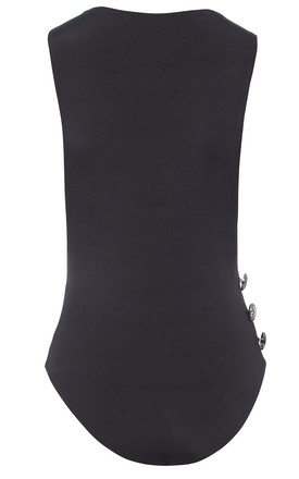 Chloe - Drop armhole side button bodysuit by Sarvin