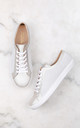 Textured White trainers with Metallic leather detail by House of Spring