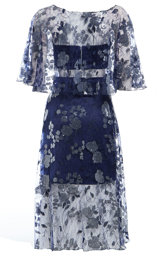 Doutzen Embroidered lace co-ord midi dress by Sarvin