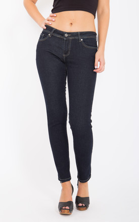 Katy Slim Fit Jeans with Narrow Leg in Blue Rinse Wash by WAY OF GLORY