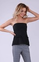 Off Shoulder Top in Black by Bergamo