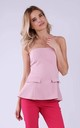 Off Shoulder Top in Light Pink by Bergamo