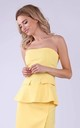 Off Shoulder Top in Yellow by Bergamo