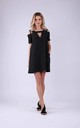Skater Dress in Black by Bergamo