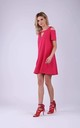 Cut Out Skater Dress in Dark Pink by Bergamo