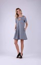 Cold Shoulder Mini Dress in Little Grey Check by Bergamo