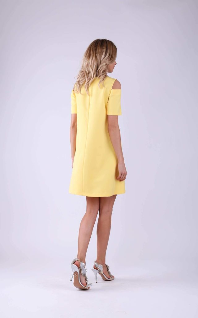 Skater Dress With Cut Out Details by Bergamo