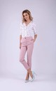 7/8 Trousers with two Pockets in Light Pink by Bergamo