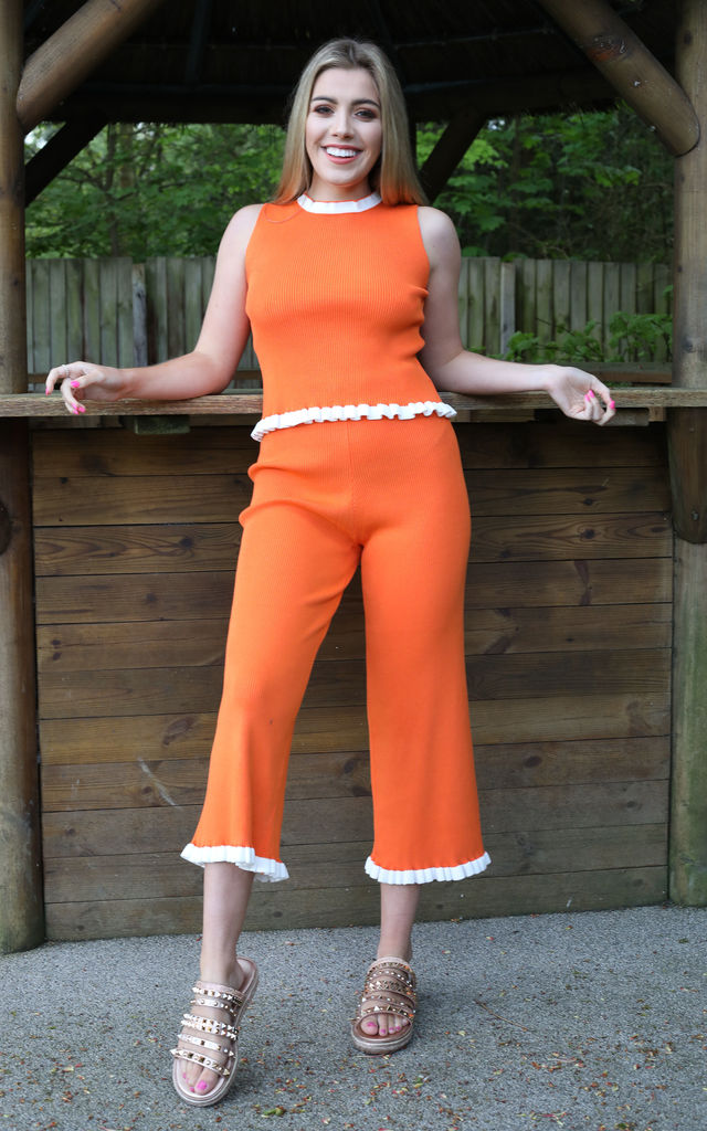 MARIA Loungewear Co-Ord Set in Orange by Giorgi London