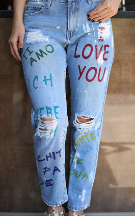 TI AMO Graffiti Jeans by Giorgi London