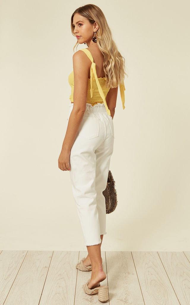 SULLIE JEANS HIGH WASTED WHITE by Jovonna London