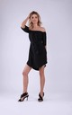 Summer Off Shoulder Dress in Black by Bergamo