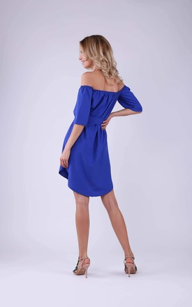 Summer Off Shoulder Dress in Blue by Bergamo