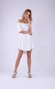 Summer Off Shoulder Dress in Ecru by Bergamo