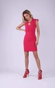 Tailored Sleeveless Mini Dress in Dark Pink by Bergamo