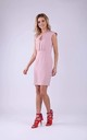Tailored Sleeveless Mini Dress in Light Pink by Bergamo