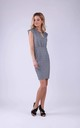 Tailored Mini Dress with Cap Sleeves in Little Grey Check by Bergamo