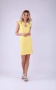 Tailored Sleeveless Mini Dress in Yellow by Bergamo
