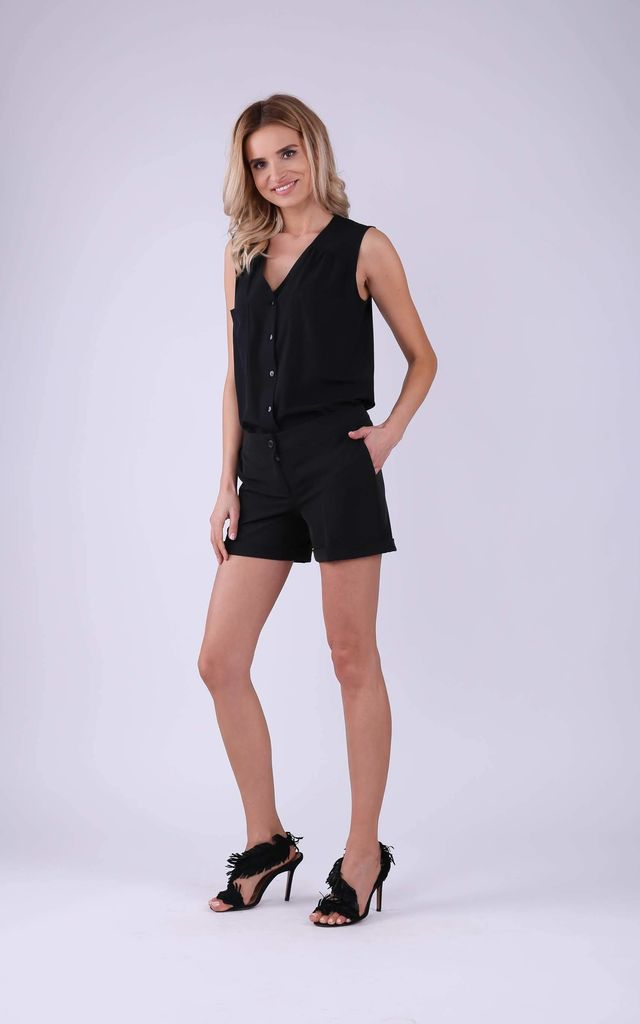 Shorts with Pockets in Black by Bergamo