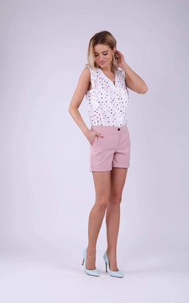 Shorts with Pockets in Light Pink by Bergamo