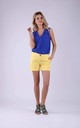 Shorts with Pockets in Yellow by Bergamo